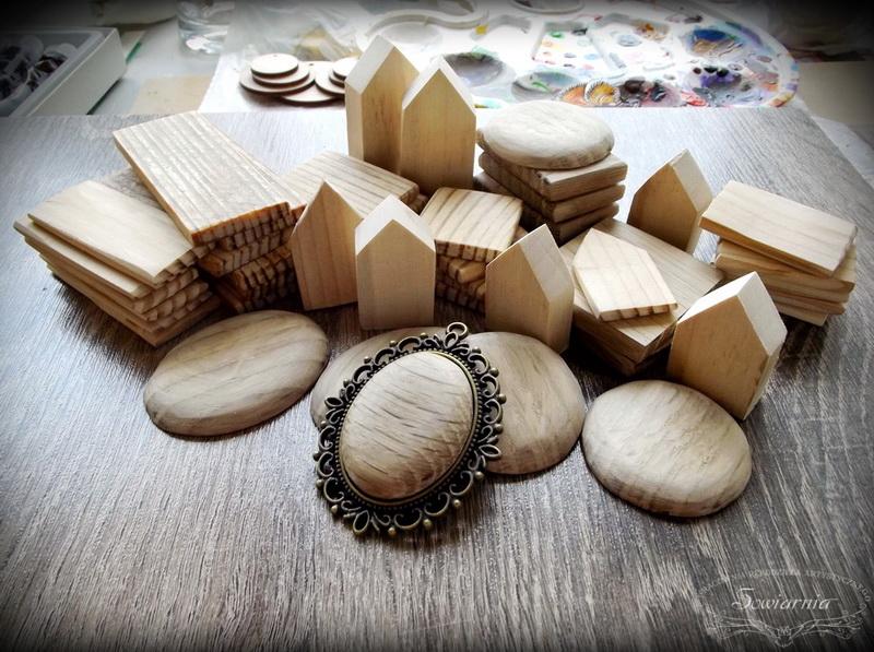 ręcznie wycinane drewniane półprodukty