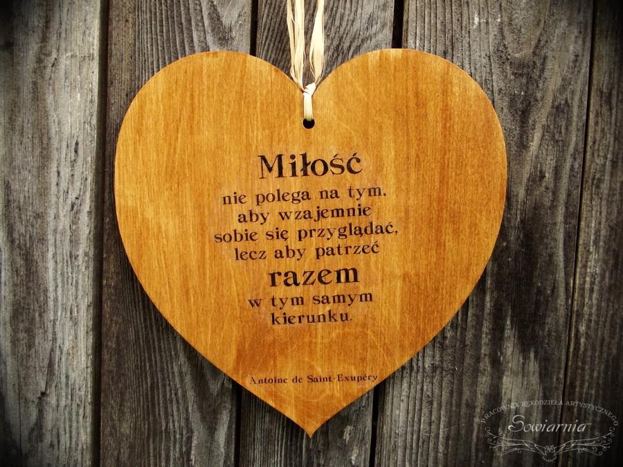 Drewniane Serca Z Sentencjami O Miłości Sowiarnia