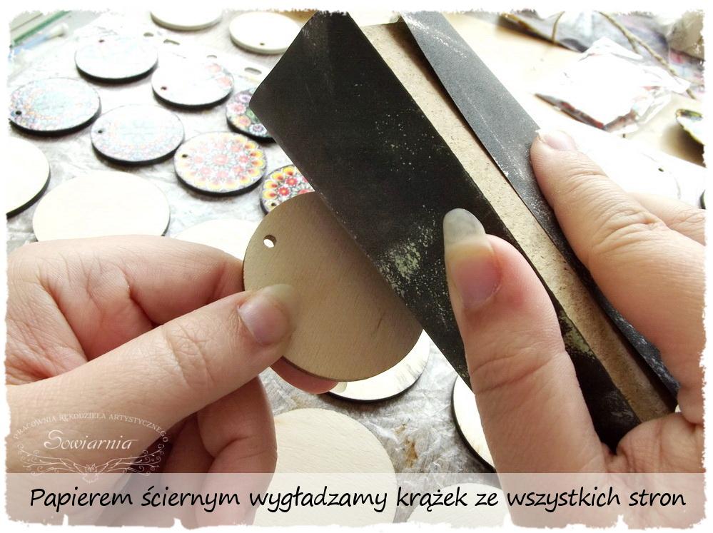 Kolczyki decoupage - krok 1