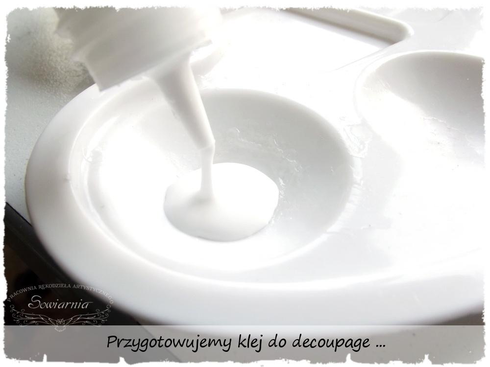 Kolczyki decoupage - krok 5