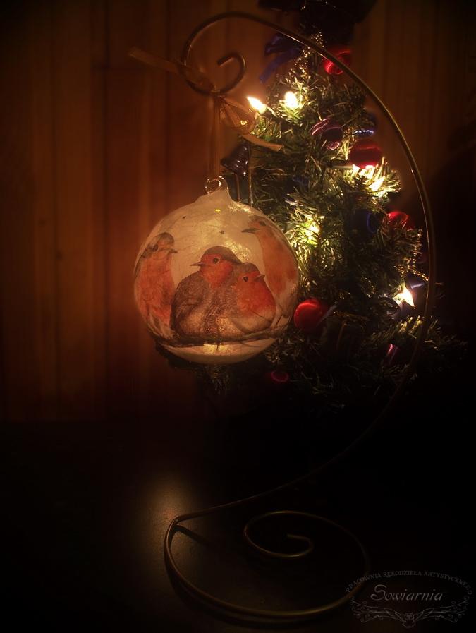 szklana bombka lampion