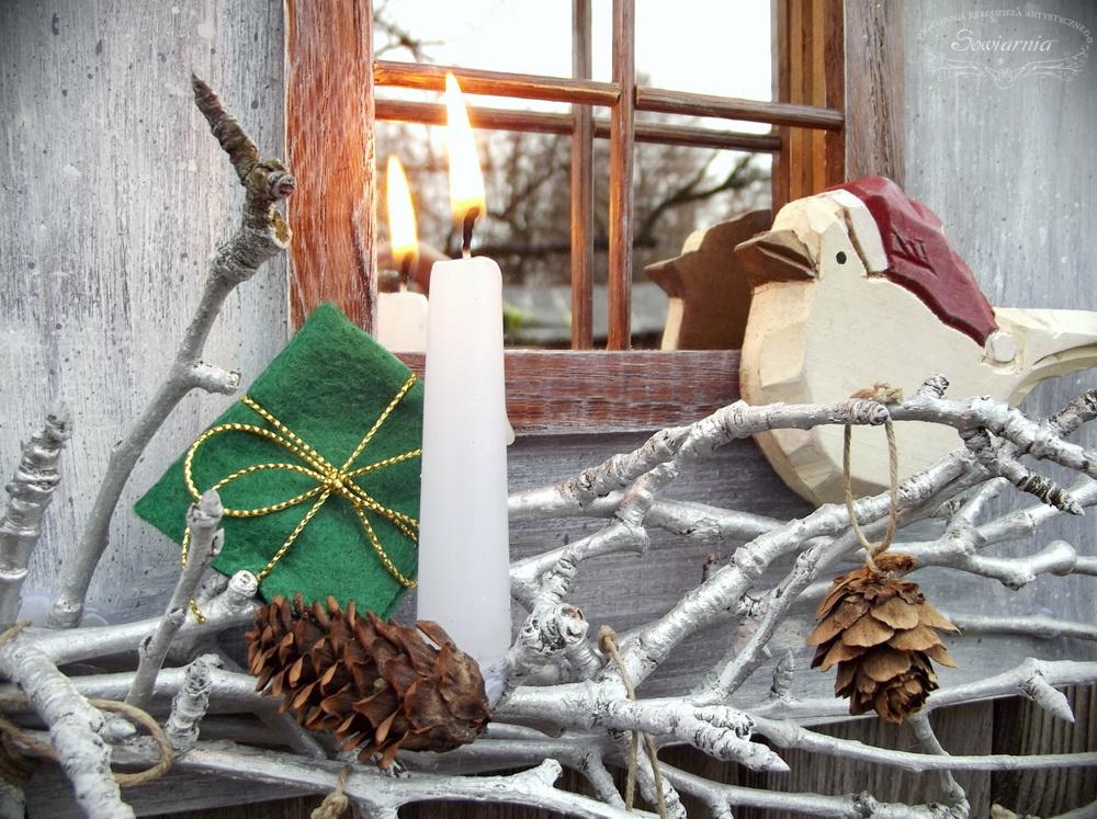 świąteczne lustro okienko
