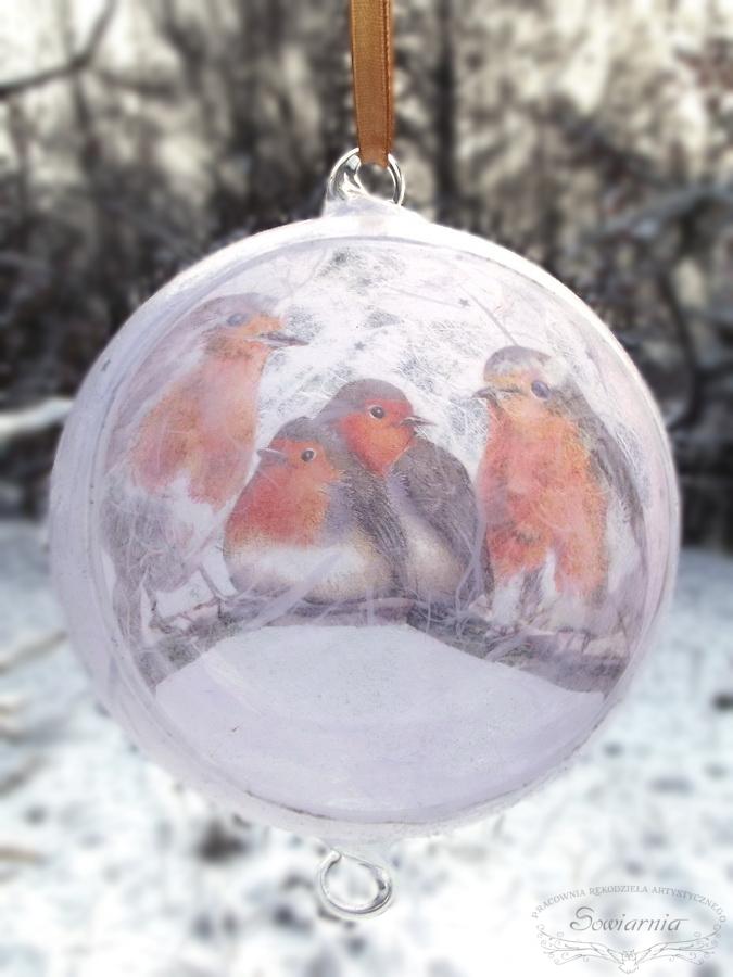 szklana bombka z ptaszkami - od środka