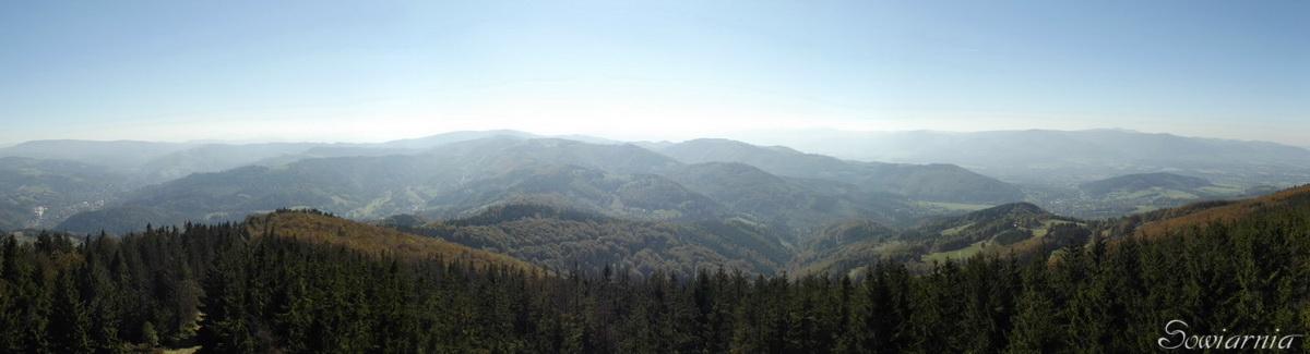 Beskid Śląski - widok z Wielkiej Czantorii