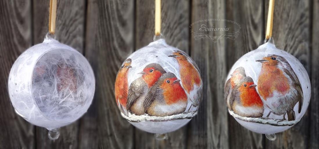 bombka z ptaszkami