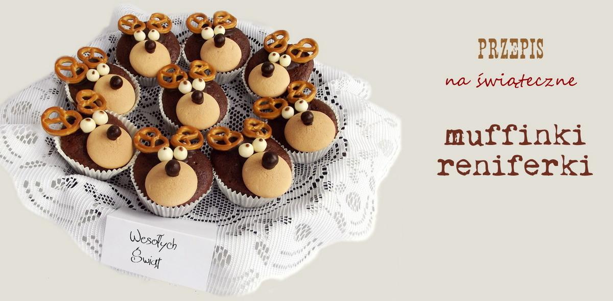przepis na muffinki reniferki