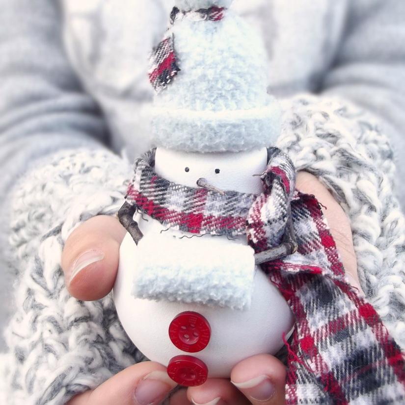 Снеговика из лампочки мастер класс