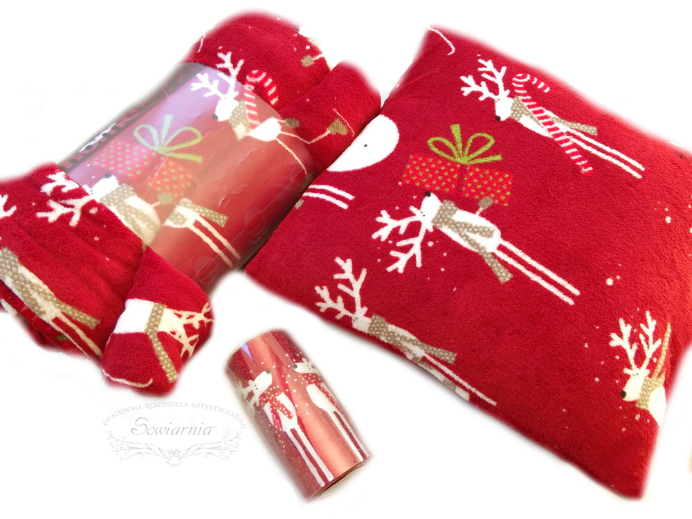 świąteczny zestaw z reniferami