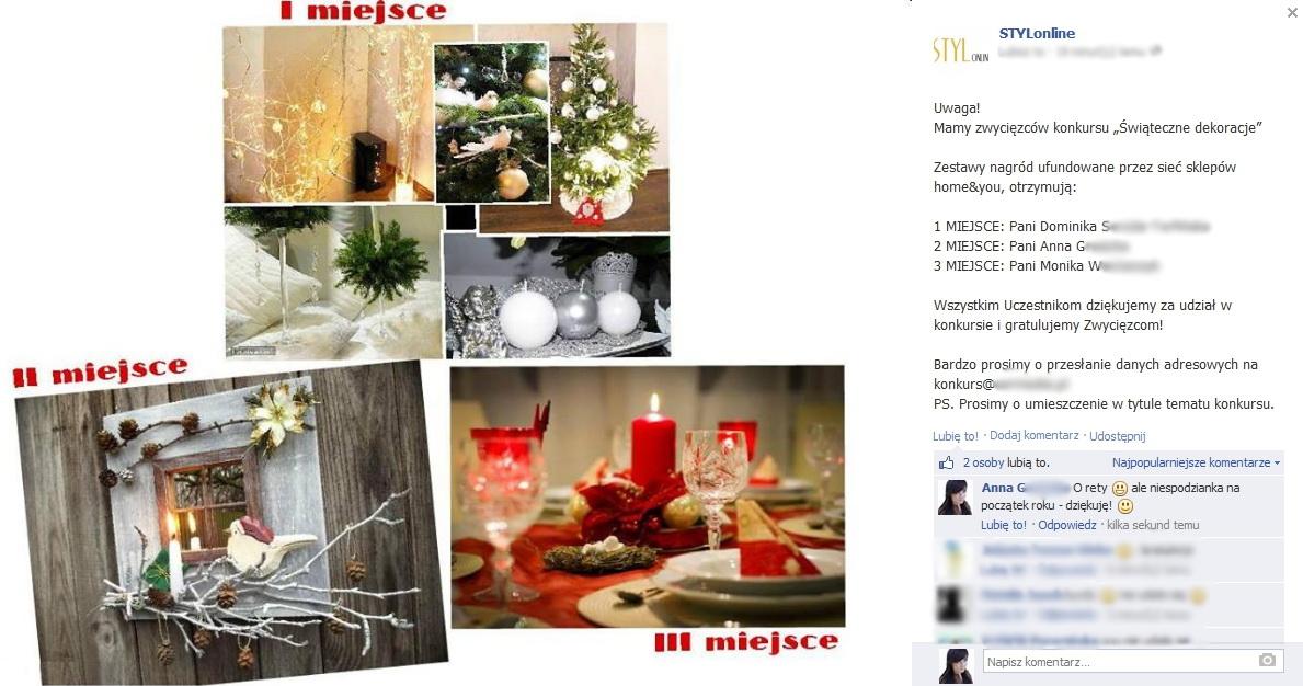 wyniki konkursu świąteczne dekoracje