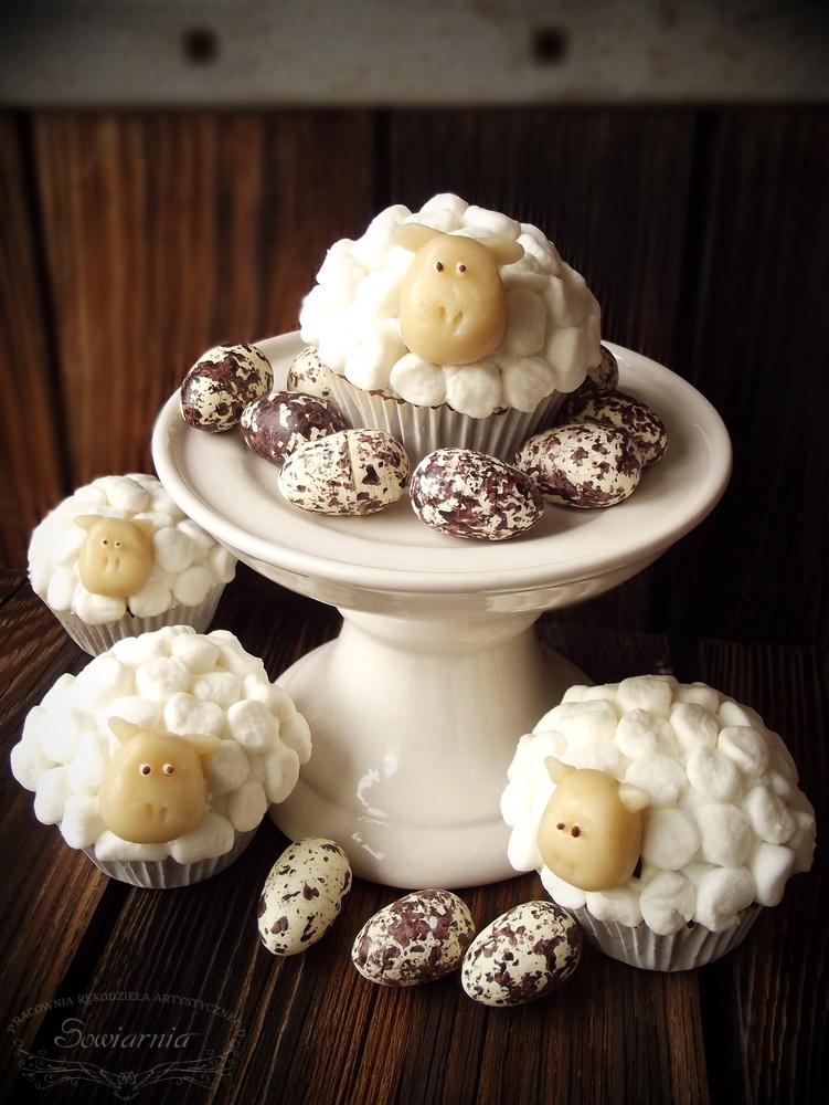 przepis na muffinki owieczki