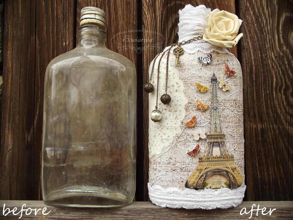 butelka przed i po