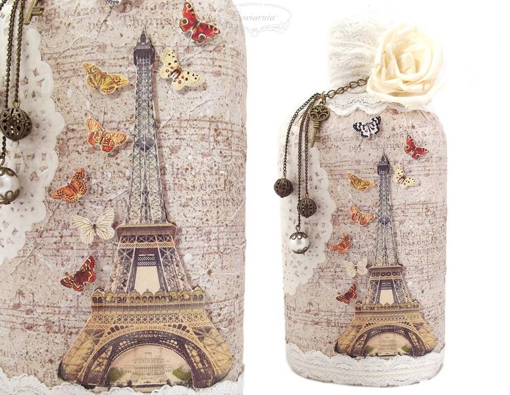 butelka Wieża Eiffela