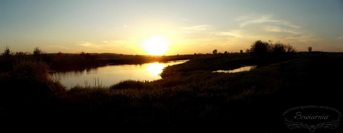 zachód słońca nad Nidą