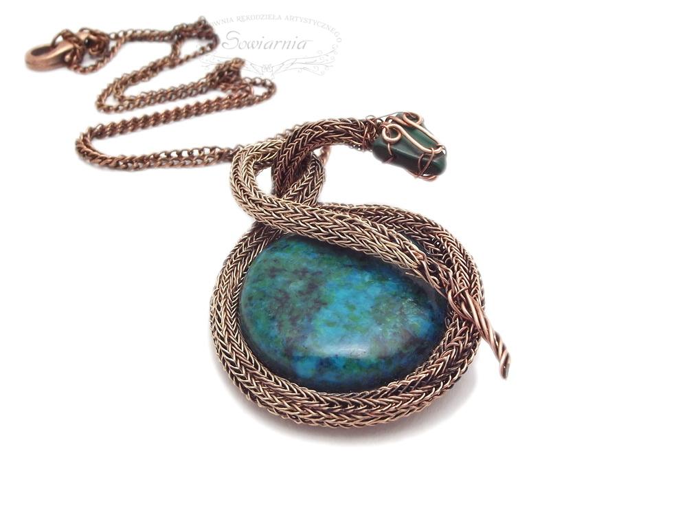 miedziany wąż viking knit