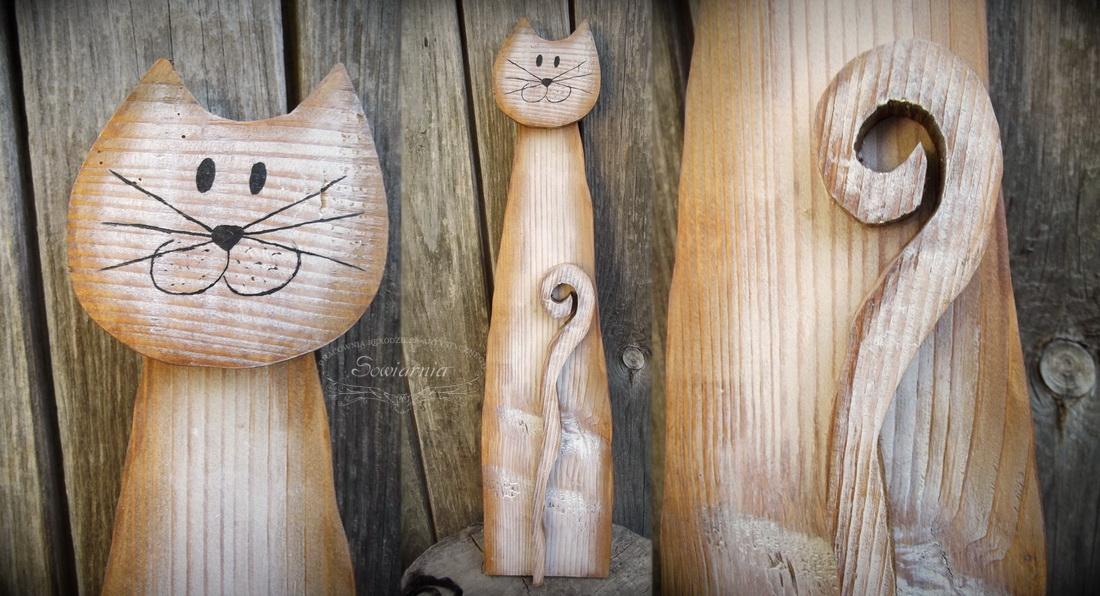 drewniany kot