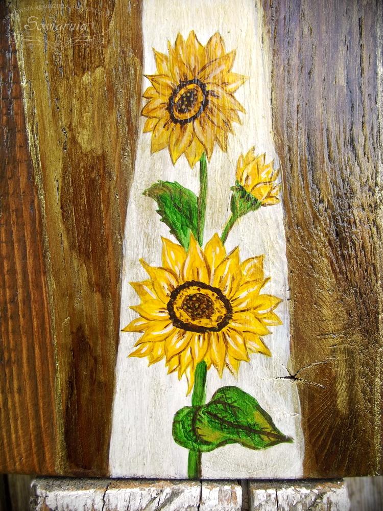 malowane słoneczniki