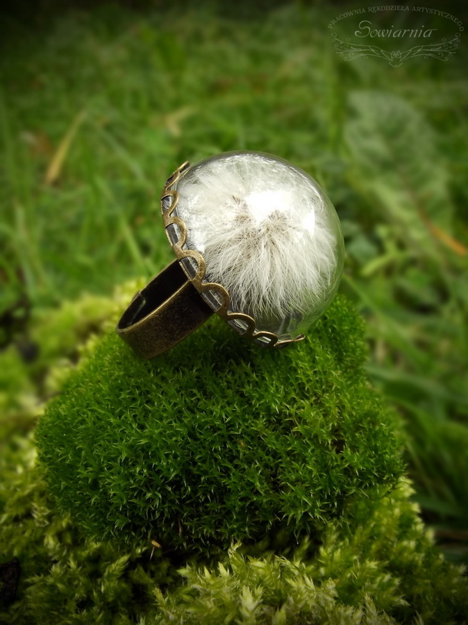pierścionek z dmuchawcem