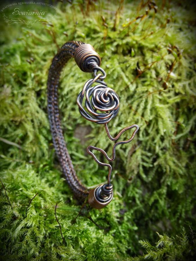viking knit z różą