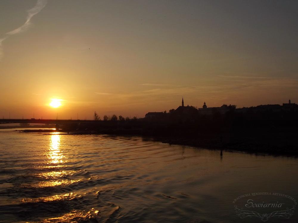 zachód słońca Sandomierz