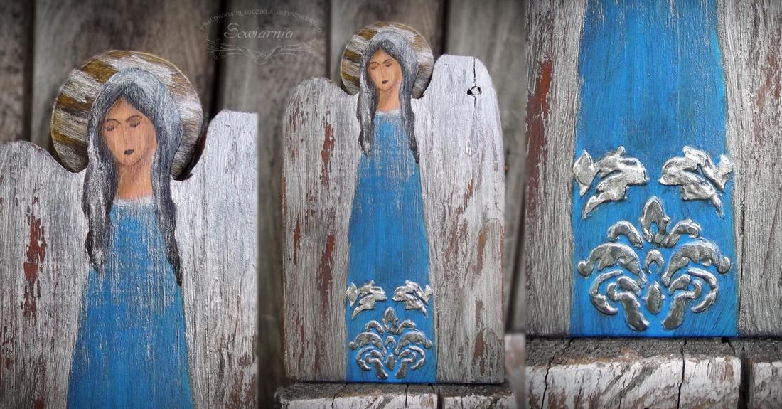 anioł w srebrzystościach