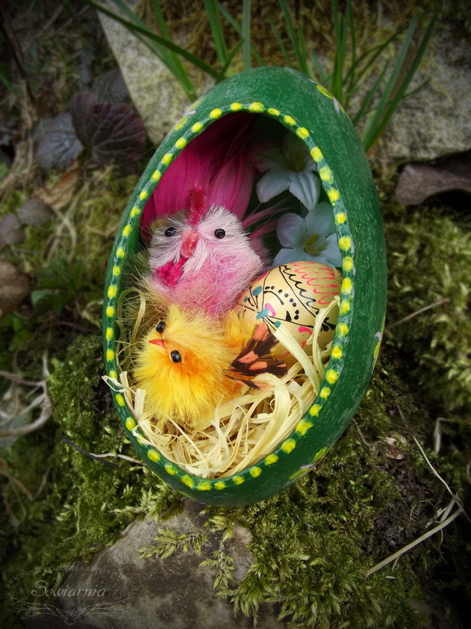 pisanka z kurczakami