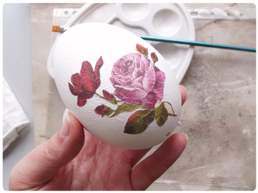 jajko decoupage tutorial