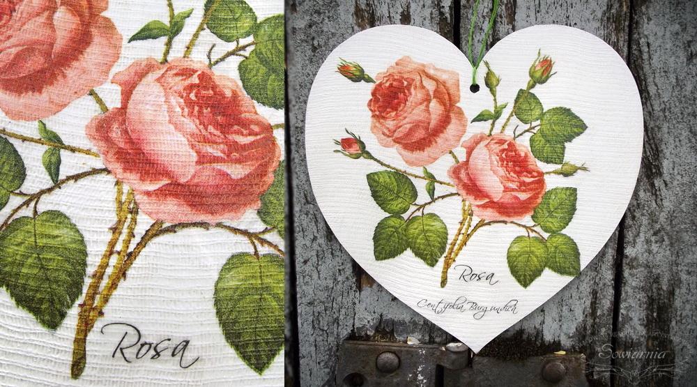 serce z różami