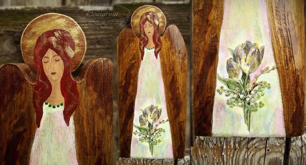 anioł ze starej deski