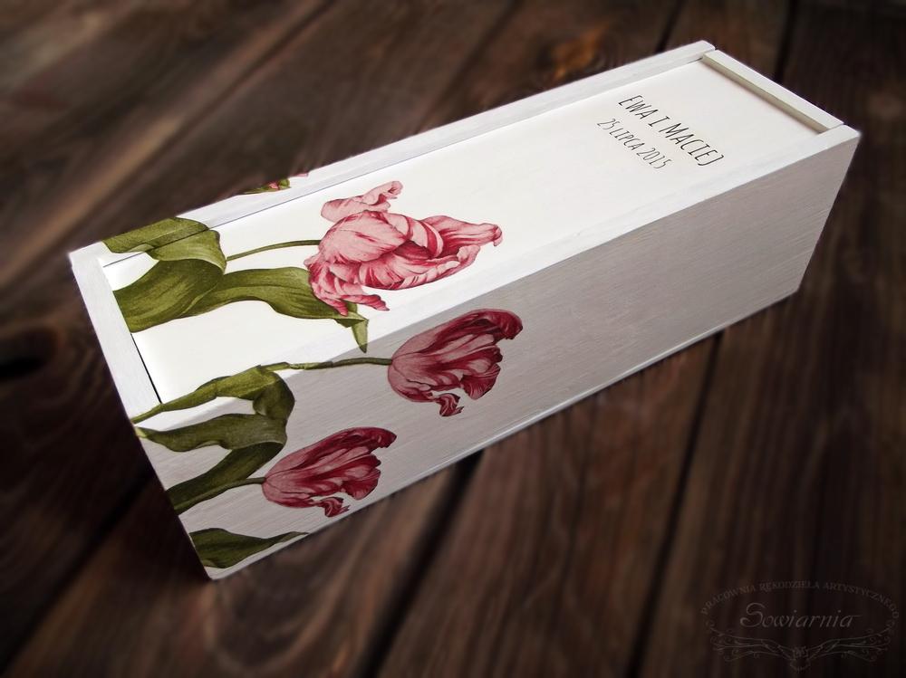 skrzynka na wino na ślub