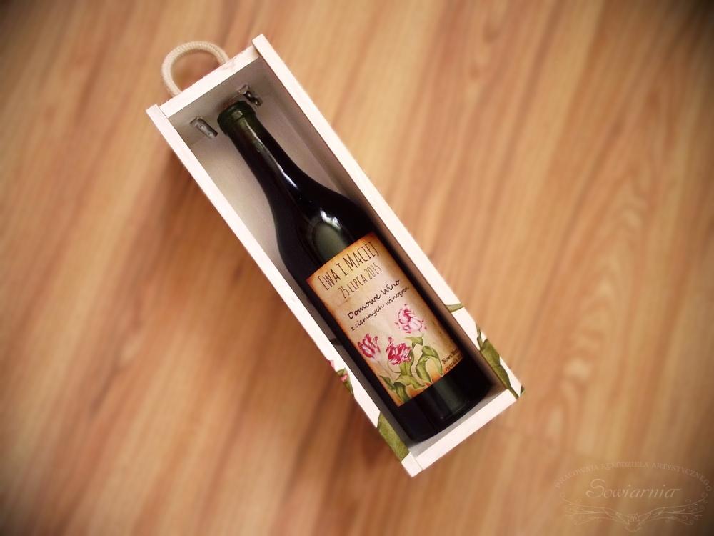 skrzynka na wino ślub