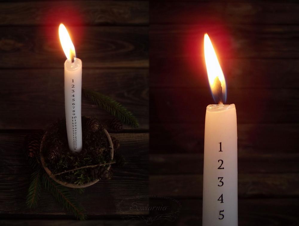 świeca kalendarzowa