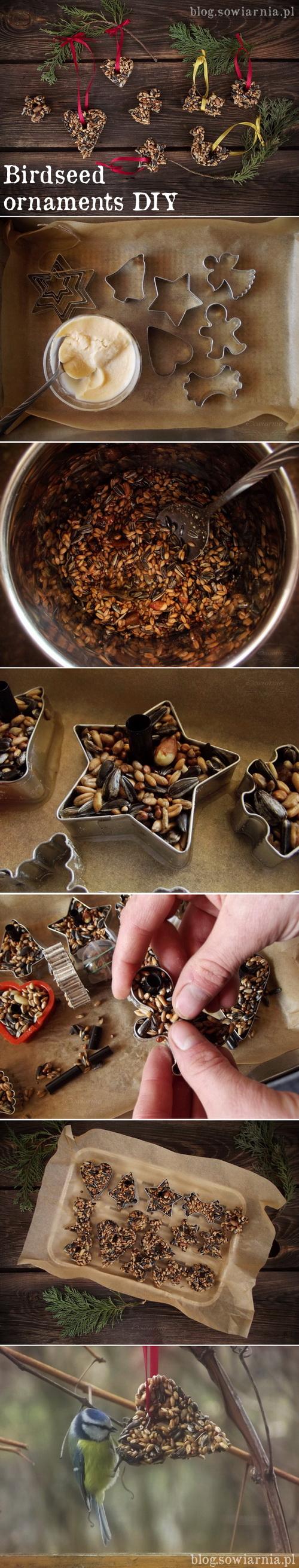 birdseed ornaments tutorial