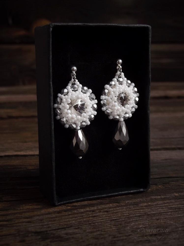 kolczyki z kryształkami rivoli
