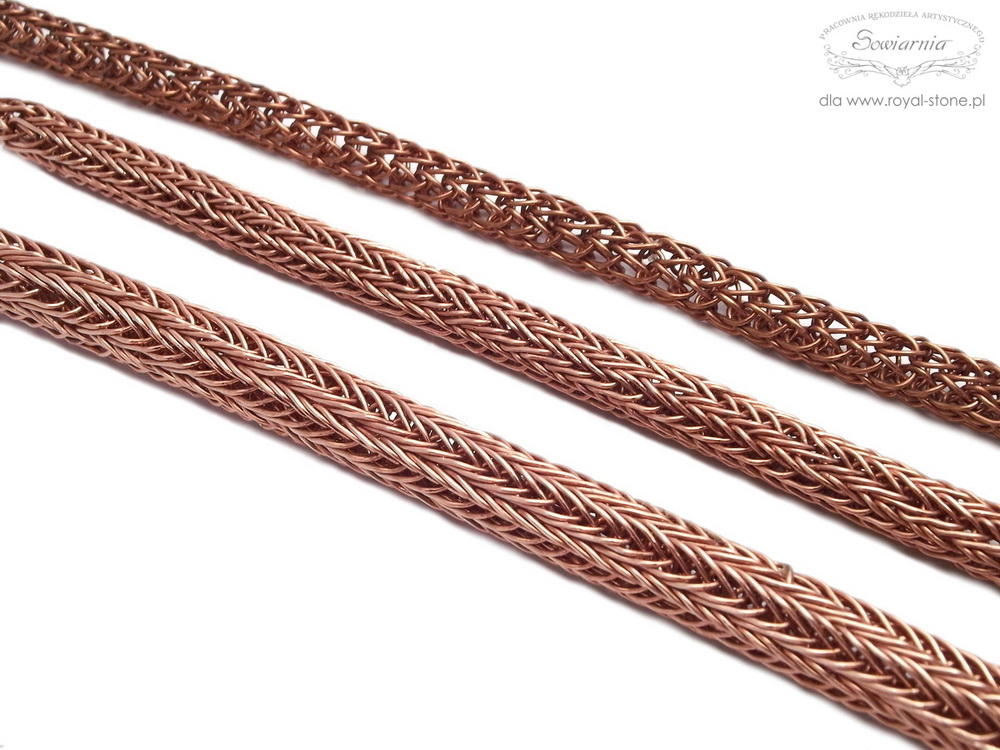 viking knit - splot pojedynczy, podwójny i potrójny