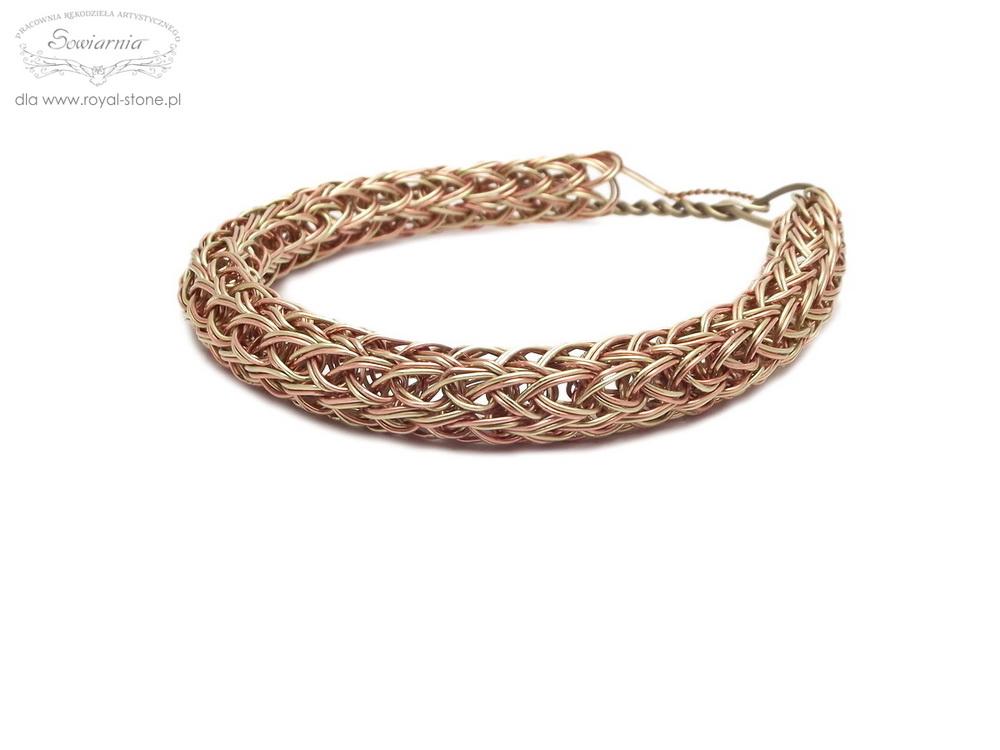 viking knit podwójnym drutem