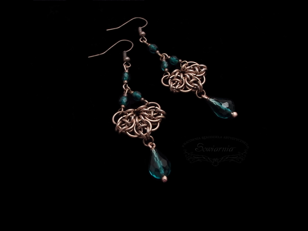 kolczyki chainmaille Celtic Visions