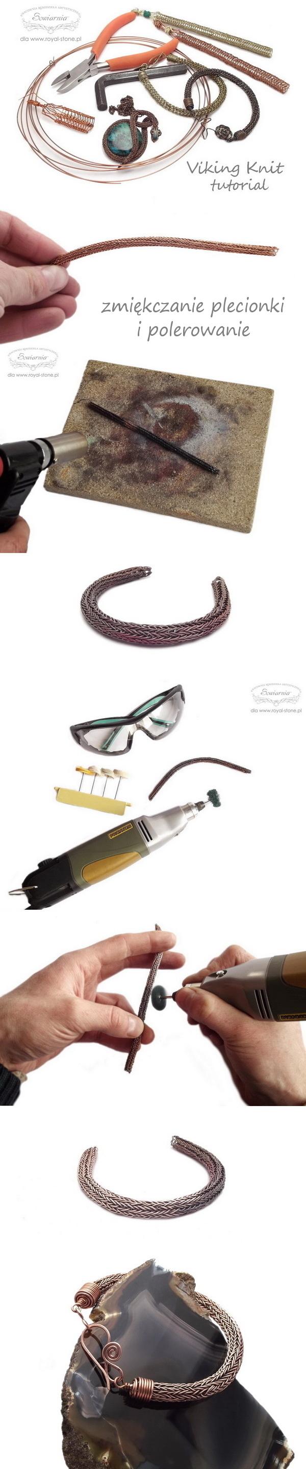viking knit tutorial - zmiękczanie i polerowanie