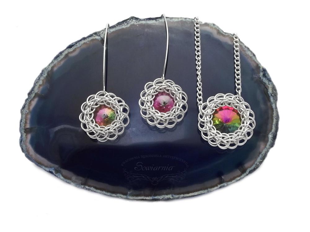 komplet biżuterii chainmaille