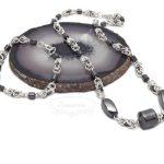 chainmaille byzantine & hematite
