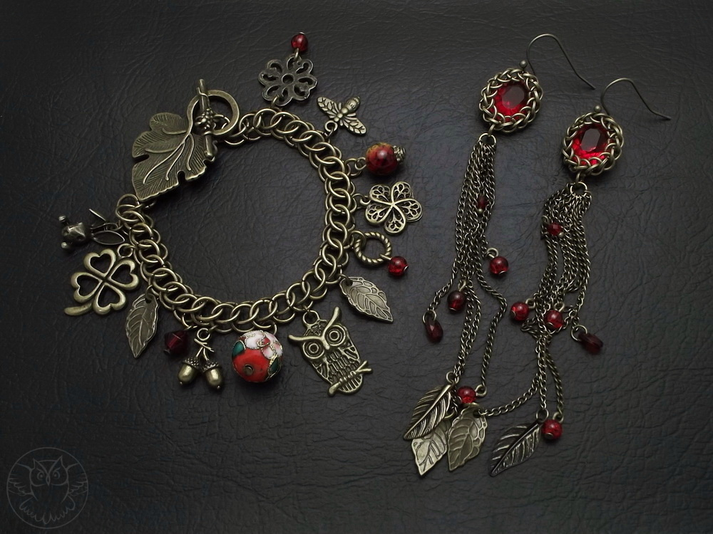jesienny komplet chainmaille