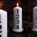 świeca kalendarz adwentowy