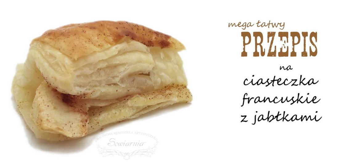 ciasteczka francuskie z jabłkami