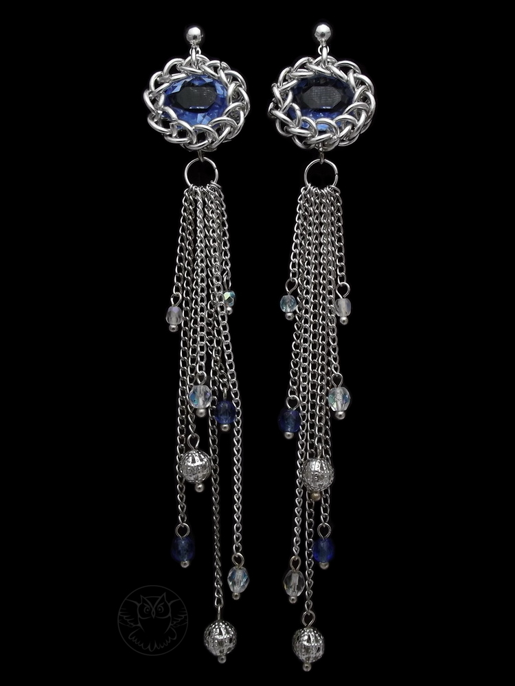 długie kolczyki z kryształkami
