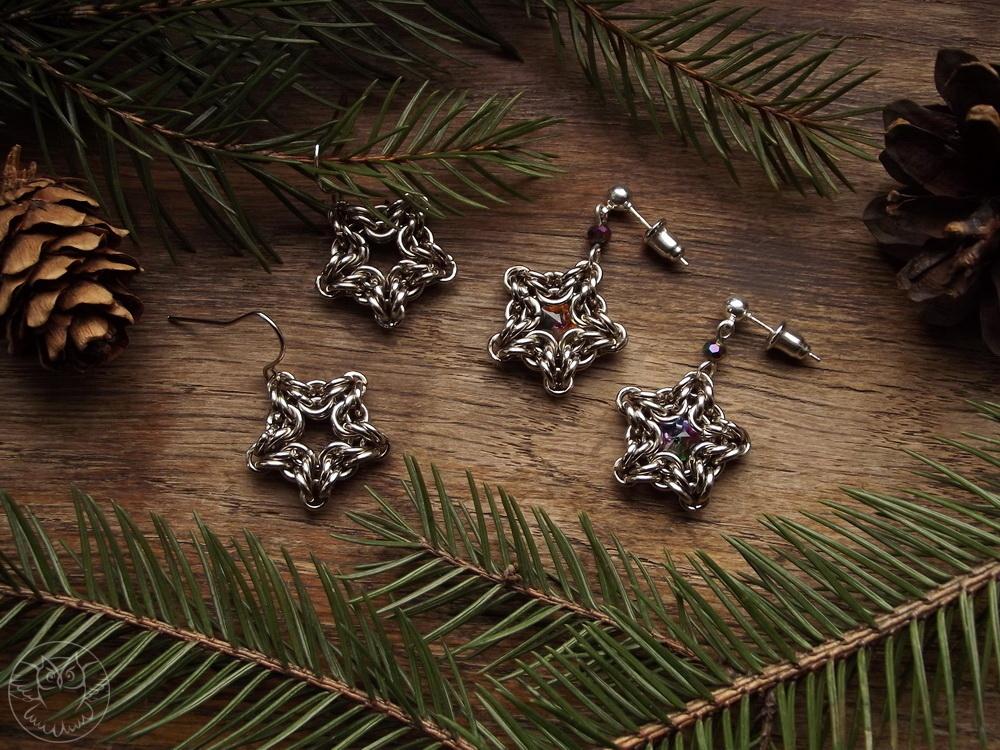 kolczyki w kształcie gwiazdek
