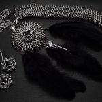 mroczny komplet chainmaille