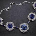 chainmaille naszyjnik z kryształkami