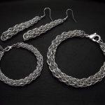 biżuteria chainmaille: bransoletki i kolczyki