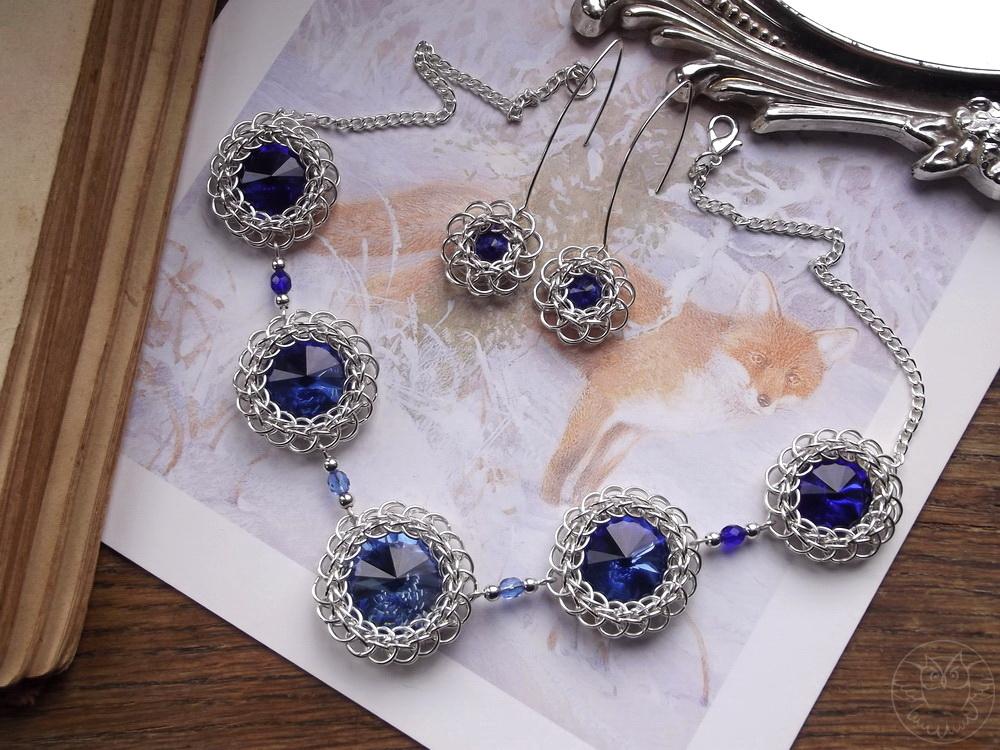 naszyjnik i kolczyki z kryształkami rivoli