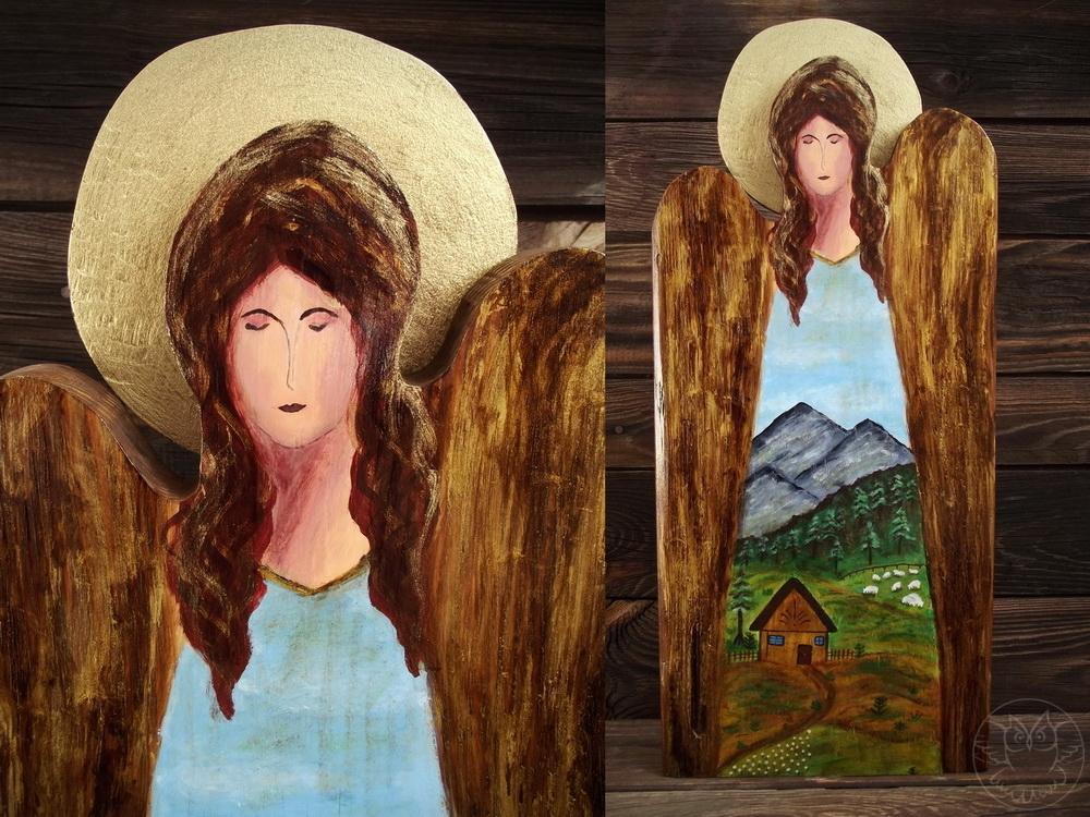 drewniany anioł z gór