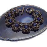 bransoletka chainmaille z kryształkami